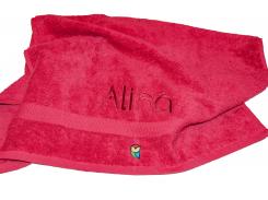 Именное банное полотенце Fairy Tale Красный (FTTW70140)