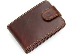 Кредитница мужская Vintage 14509 кожаная Коричневая, Коричневый