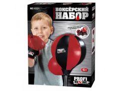 Детский бокс Profi Boxing 0331 Черный с красным