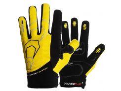 Велорукавички PowerPlay 6556 L Жовті (6556_L_Yellow)
