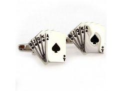Запонки игральные карты (Zph-1071)