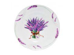 Набор 6 мелких тарелок ST Лаванда d 20.5 см Белый (ST-30001-1436_psg)