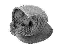 Подушка для путешествий DROM Luxury с капюшоном Серый (10201)