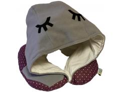 Подушка Organic Toys для путешествий с капюшоном Серый (20103)