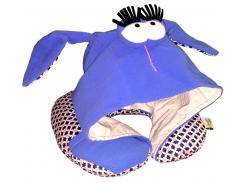Подушка Organic Toys для путешествий с капюшоном Синий (20301)