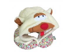 Подушка Organic Toys для путешествий с капюшоном Разноцветный (20401)