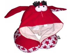 Подушка Organic Toys для путешествий с капюшоном Красный  (20302)