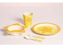 Детский набор бамбуковой посуды Con Brio 5 в 1 Морская звезда (СВ-253df)