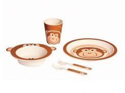 Детский набор бамбуковой посуды Con Brio 5 в 1 Обезьянка (СВ-254vr)