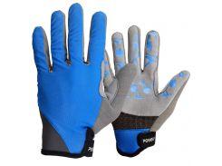 Велорукавички PowerPlay 6566 L Сині (6566_L_Blue/Grey)