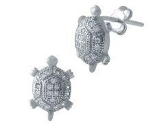 Серебряные серьги SilverBreeze с фианитами (1560822)