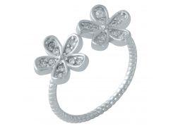Серебряное кольцо Silver Breeze с фианитами Регулируемый размер (1920084)