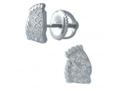 Серебряные серьги SilverBreeze с фианитами (1974766)
