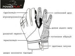 Велорукавички PowerPlay 6554 C Чорні S (FO836554C_S_Black)