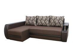 Угловой диван Garnitur.plus Граф левосторонний коричневый 245 см (DP-13)