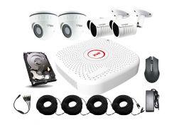 Универсальный комплект AHD видеонаблюдения Longse 2M2N2V c 4 камерами 2 Мп + HDD 1000Гб