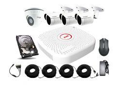 Универсальный комплект AHD видеонаблюдения Longse 2M3N1V c 4 камерами 2 Мп + HDD 1000Гб