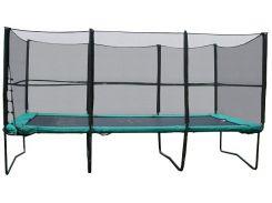 Прямоугольный батут KIDIGO 457 х 305 см с защитной сеткой + лестница (hub_laQH52712)