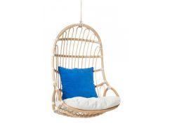 Подвесное кресло-качель Cruzo Шелл из натурального ротанга Медовое (kk1-359780)