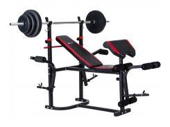 Набор Hop-Sport HS-1020 Premium 48 кг со скамьей (3-2880174)