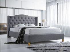 Двуспальная кровать Aspen 180 Signal 124 х 198 х 216 см Серый (ASPEN180SZD)