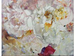 Картина интерьерная живопись Пионы 130х100 см (ТКПионы)