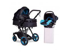 Универсальная коляска 3 в 1 с автокреслом Ninos Bono Blue (N2019BONO2B)