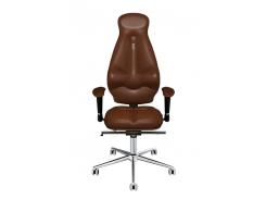Эргономичное кресло KULIK SYSTEM GALAXY Коричневое (1102)