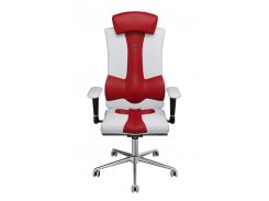 Эргономичное кресло KULIK SYSTEM ELEGANCE Бело-красное (1003)