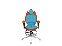 Детское эргономичное кресло KULIK SYSTEM TRIO Оранжевое с бирюзовым (1403)