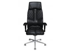 Эргономичное кресло KULIK SYSTEM BUSINESS Черное (602)