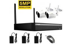 Комплект видеонаблюдения беспроводной Longse WIFI 2-Kit 5 мегапикселей (100055)
