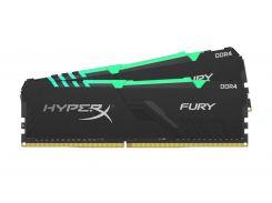 Оперативная память для компьютера DDR4 32GB (2x16GB) 3466 MHz HyperX FURY RGB Kingston HX434C16FB3AK2/32 (U0383304)