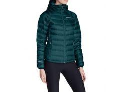 Куртка Eddie Bauer Womens Downlight StormDown Hooded Jacket Зеленый (1075DS)