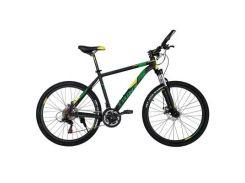 """Велосипед Trinx M136 26""""х19"""" Matt-Black-Yellow-Green (10030065)"""