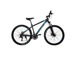 "Велосипед Trinx M136 Elite 27.5""x18"" Matt-Black-Blue-Grey (10030080)"