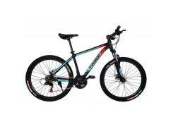"Велосипед Trinx M100 26""х19"" Matt-Black-Red-Cyan (M100.19MBRC)"