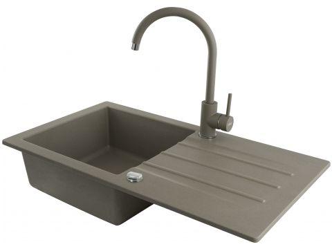 Кухонная мойка KGS A 50 1B1D NATURAL BEIGE