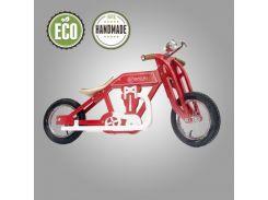 Велобег деревянный Solid Design Bartka красный