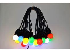 Уличная Гирлянда Retro Light  25м на 51  лампочек LED Цветные с влагозащитой IP22 (bus25S)