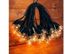Ретро гирлянда для праздников Retro Light 20 м 40 лампочек  желтый теплый свет (07/LITW002)