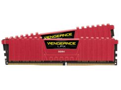 Оперативная память для компьютера DDR4 32GB (2x16GB) 3000 MHz Vengeance LPX Red CORSAIR CMK32GX4M2B3000C15R (U0325916)