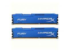 Оперативная память для компьютера DDR3 16Gb (2x8GB) 1600 MHz HyperX Fury Fury Blu Kingston HX316C10FK2/16 (U0072827)
