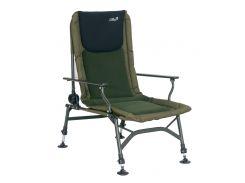 Кресло Energofish Carp Expert с подлокотниками и регулировкой спинки Зеленый (73701150)