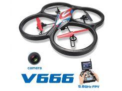 Квадрокоптер с камерой WL Toys V666 Cyclone с FPV системой 5.8ГГц