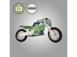 Велобег деревянный Solid Design Jacka зеленый