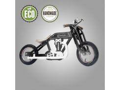 Велобег деревянный Solid Design Bartka черный