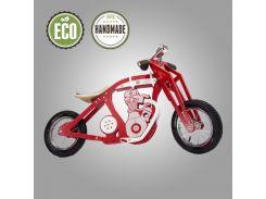 Велобег деревянный Solid Design Harlik красный