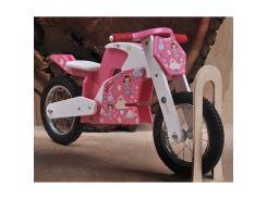Велобег деревянный Solid Design Jacka Розовый