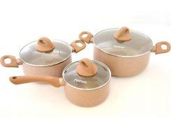 Набор кухонной посуды Fissman LATTE 3 предмета (FN-AL-4952_psg)